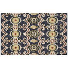 Nourison Siam Distressed Ikat Wool Rug