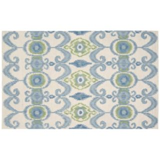 Nourison Siam Distressed Ikat Wool Rug
