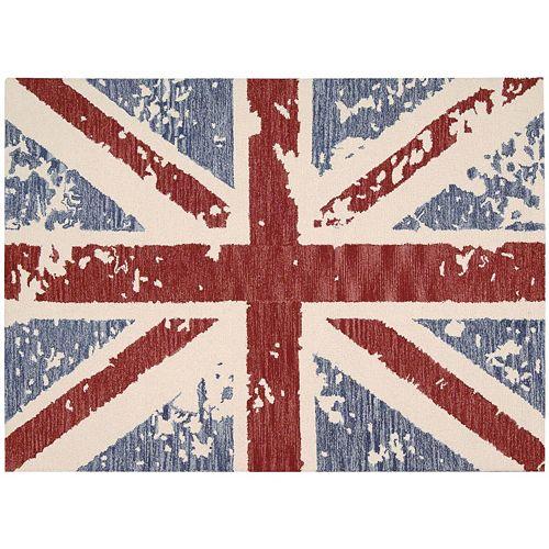 Nourison Siam British Flag Ikat Wool Rug