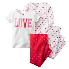 Toddler Girl Carter's 'Love' Pajama Set