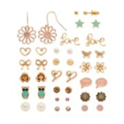 Mudd® Flower, Star, Heart, Butterfly, Owl, Bow & ''Love'' Earring Set