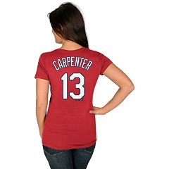 Women's Majestic St. Louis Cardinals Matt Carpenter Player Name and Number Tee