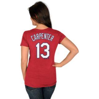 Women's Majestic St. Louis Cardinals Matt Carpenter Player Name and Number Tee