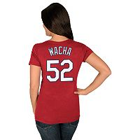 Women's Majestic St. Louis Cardinals Michael Wacha Name and Number Tee