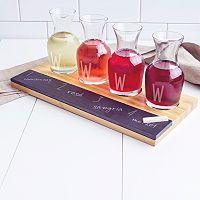 Cathy's Concepts Mongram Wine Tasting Flight