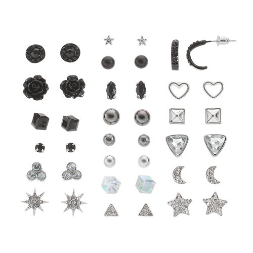 Mudd® Star, Heart, & Flower Stud Earring Set