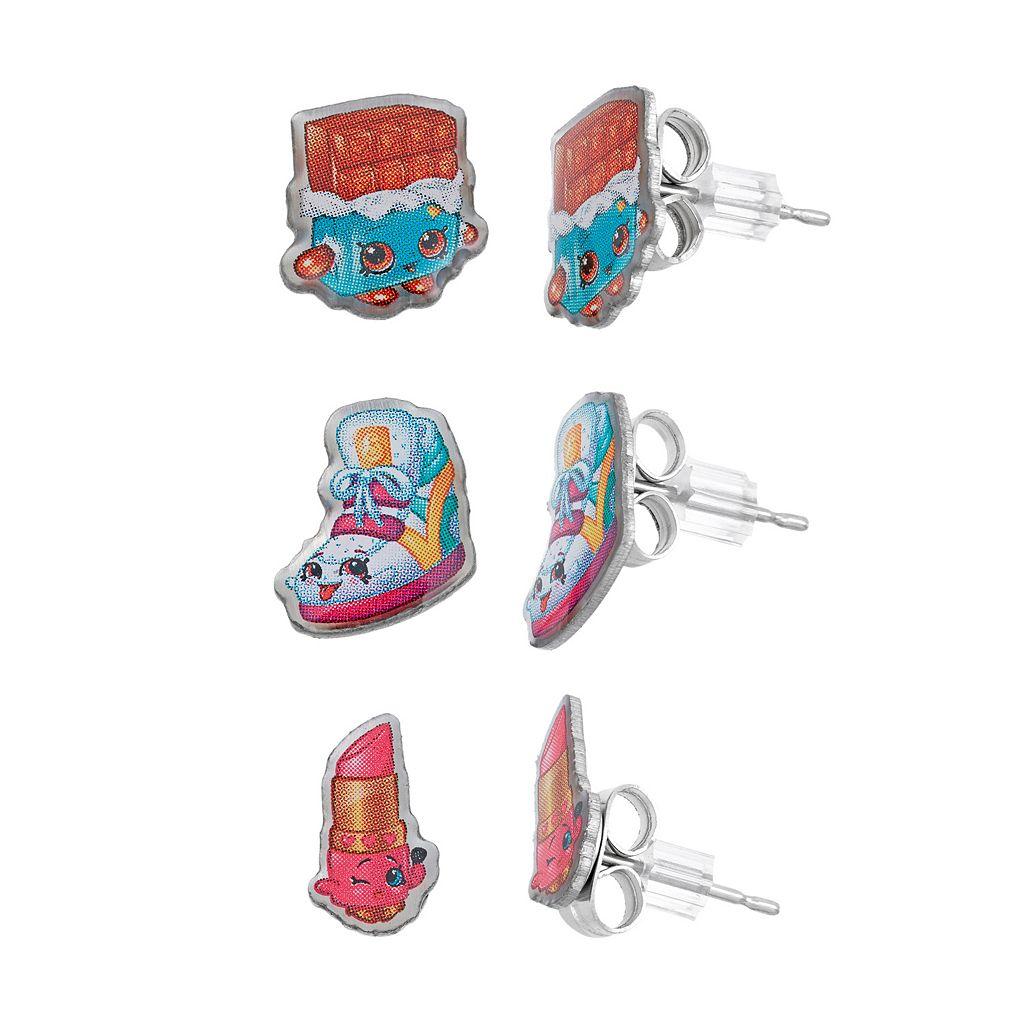 Shopkins Kids' Stud Earrings & Keepsake Jewelry Box Set