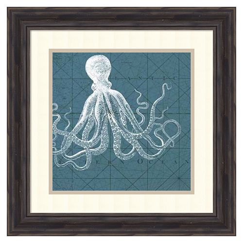 ''Coastal Menagerie VII'' Framed Wall Art