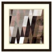 ''Mocha Pattern I'' Framed Wall Art