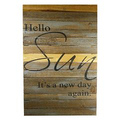 Sweet Bird & Co. ''Hello Sun' Reclaimed Wood Sign