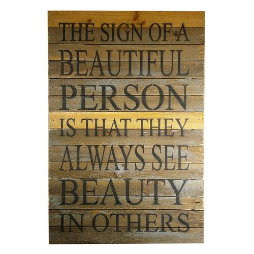 Sweet Bird & Co. ''See Beauty in Others'' Reclaimed Wood Sign