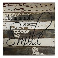 Sweet Bird & Co. ''Nothing Prepared Us for Your Smile'' Reclaimed Wood Sign