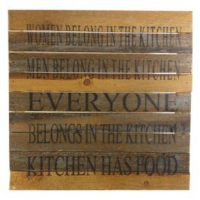 Sweet Bird & Co. ''Everyone Belongs in the Kitchen'' Reclaimed Wood Sign