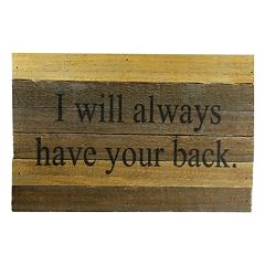 Sweet Bird & Co. ''I Will Always Have Your Back'' Reclaimed Wood Sign