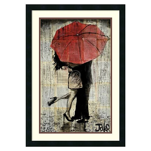 ''The Red Umbrella'' Framed Wall Art