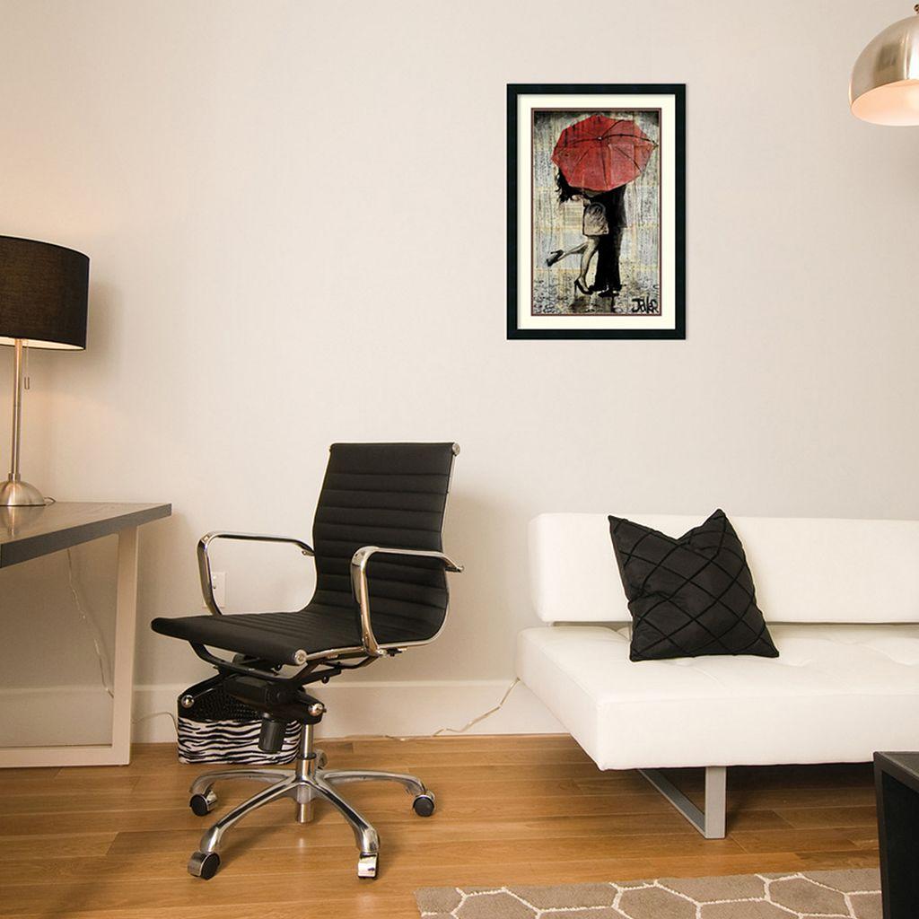''The Red Umbrella'' Framed Wall Art