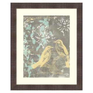 ''Pretty Birds I'' Framed Wall Art