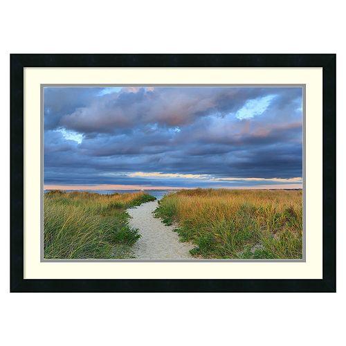 """Jetties Beach Path'' Framed Wall Art"