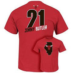 Men's Majestic Chicago Bulls Jimmy Butler Record Holder Tee