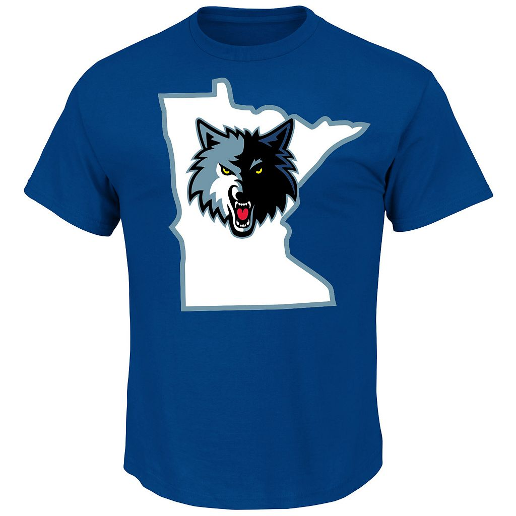 Men's Majestic Minnesota Timberwolves Ricky Rubid Record Holder Player Name and Number Tee
