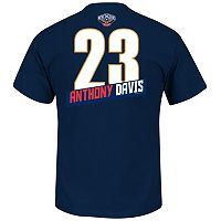 Men's Majestic New Orleans Pelicans Anthony Davis Record Holder Tee