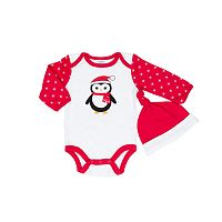 Baby Gear Baby Girl Penguin Bodysuit