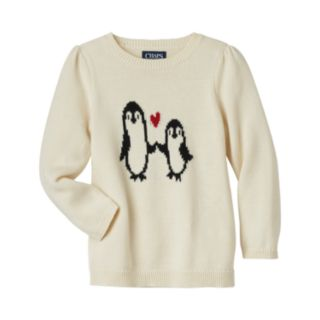 Girls 4-6x Chaps Penguin Sweater