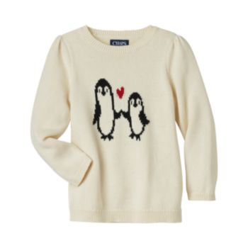 Girls 4-6x Chaps Penguin Sweater