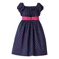 Girls 4-6x Chaps Polka-Dot Dress