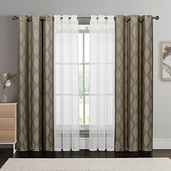 VCNY 4-pack Jasper Double-Layer Window Curtain Set