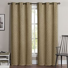 VCNY 2-pack Geometric Blackout Curtains
