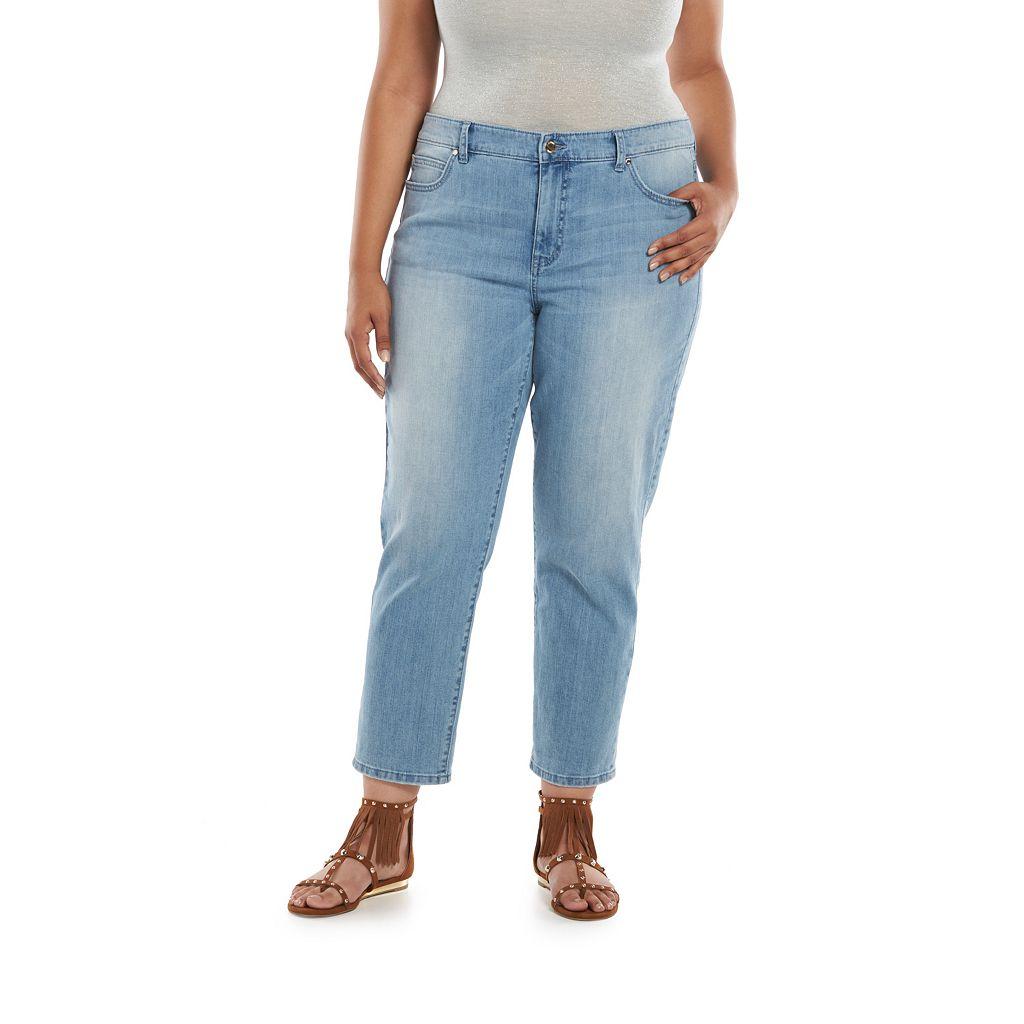 Plus Size Jennifer Lopez Boyfriend Jeans