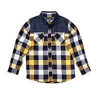 Boys 4-7 French Toast Chambray Plaid Flannel Button-Down Shirt