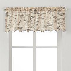 Ellis Curtains Script Window Valance - 48'' x 15''