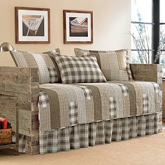 Eddie Bauer Fairview Saddle 5 pc Daybed Quilt Set