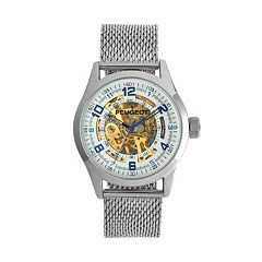 Peugeot Men's Mechanical Stainless Steel Automatic Skeleton Watch - 1050S