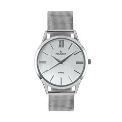 Peugeot Men's Slim Case Stainless Steel Watch