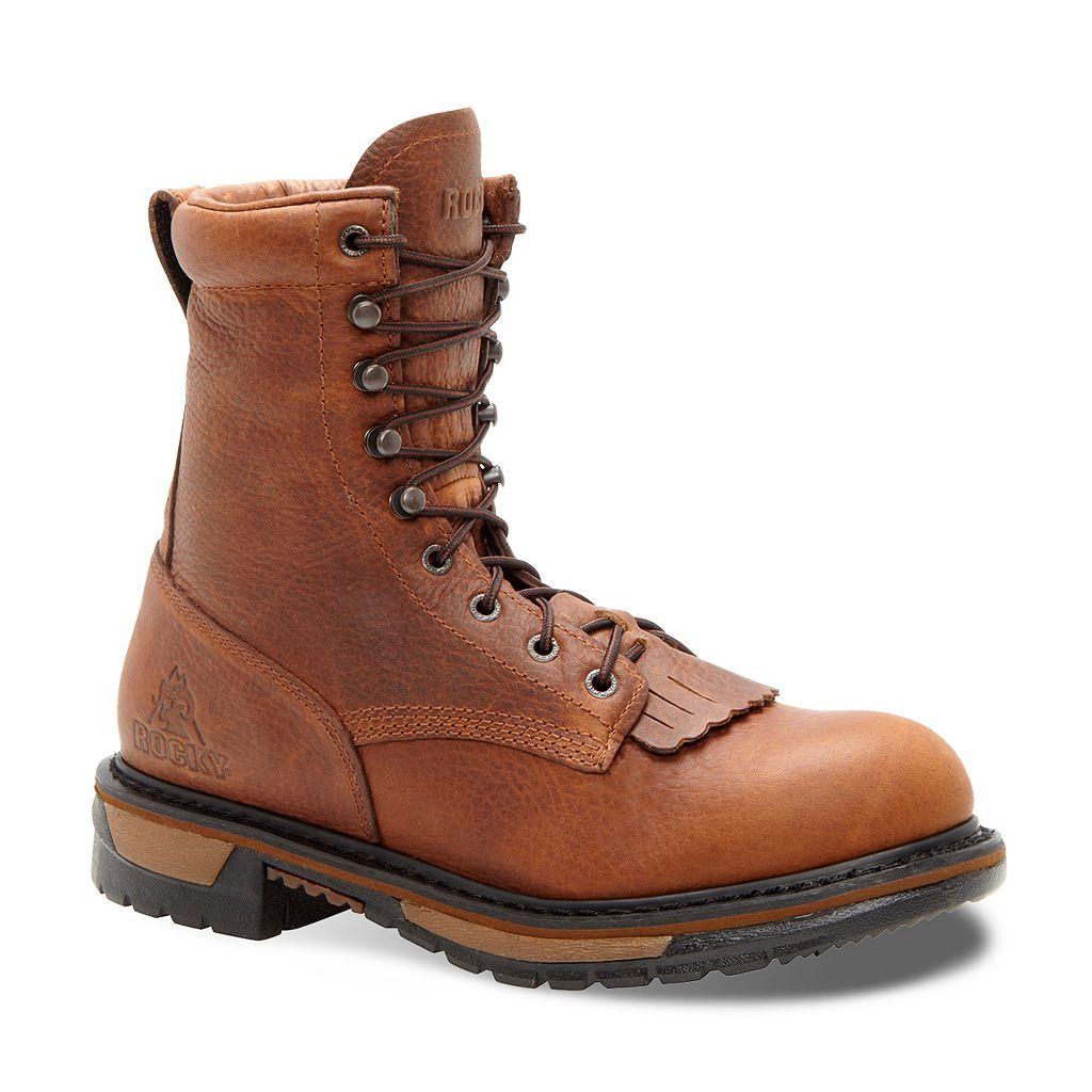 Rocky Original Ride Lacer 8-in. Waterproof Western Men's Work Boots