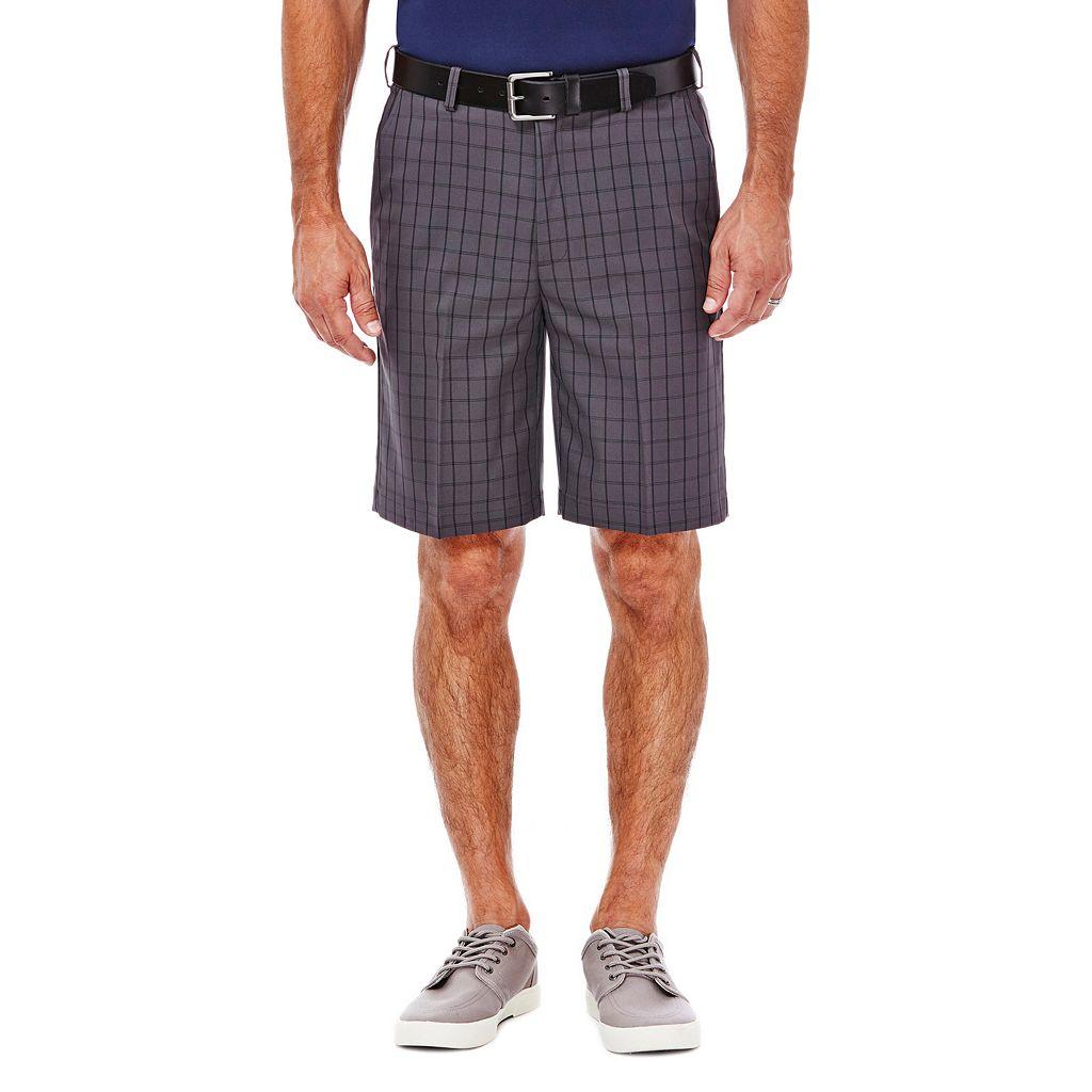 Big & Tall Haggar Classic-Fit Windowpane Expandable Waistband Shorts