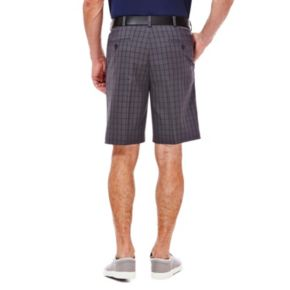 Big & Tall Haggar Classic-Fit Windowpane Expandable Waistband Shorts