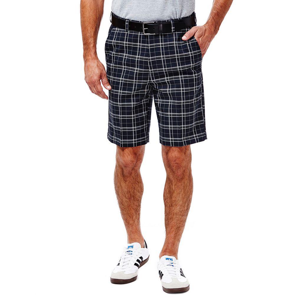 Big & Tall Haggar Classic-Fit Plaid Expandable Waistband Shorts