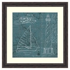 'Coatal Blueprint III'' Framed Wall Art