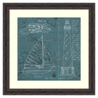 """""""Coatal Blueprint III'' Framed Wall Art"""