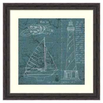 """Coatal Blueprint III'' Framed Wall Art"