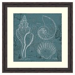 'Coastal Blueprint I'' Framed Wall Art