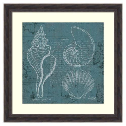 """Coastal Blueprint I"" Framed Wall Art"
