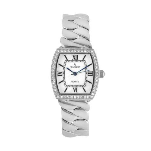 Peugeot Women's Teardrop Twisted Stainless Steel Watch