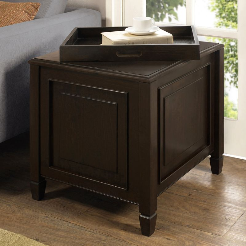 Simpli Home Connaught End Table, Brown