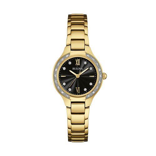 Bulova Women's Maiden Lane Diamond Stainless Steel Watch - 98R222
