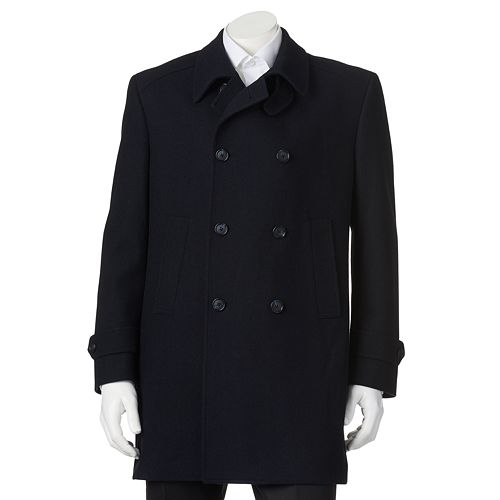 Men's Billy London Double-Breasted 35-in. Wool-Blend Top Coat